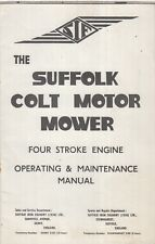 SUFFOLK COLT PETROL ENGINED LAWNMOWER ORIG. 1968 MAINTENANCE MANUAL & PARTS LIST