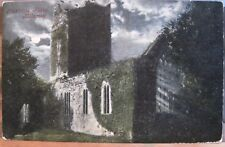 Irish Postcard MUCKROSS ABBEY By Moonlight Lks Killarney Ireland Valentine 1905