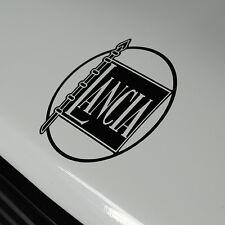 "LANCIA STRATOS Cut Vinyl Gloss Nero Adesivo Decalcomania ANTERIORE ""LANCIA"" BADGE 78 mm."