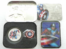 2014 Niue Marvel Avengers Captain America $2 Two Dollar Silver Proof Coin