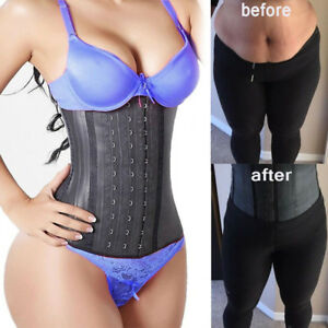 UK Latex Waist Trainer Body Shaper for Women Fajas Strong Boned Correct Posture