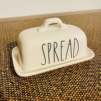 """""""SPREAD"""" RAE DUNN BUTTER DISH w/Cover by Magenta Artisan Collection"""