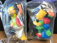 The Simpsons Kids Meal toys -Homer and Bart!  New sealed figurines - from BK