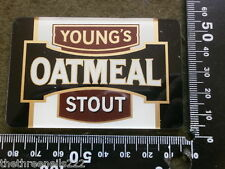 PERSPEX BEER PUMP CLIP - YOUNGS OATMEAL STOUT (LARGER)