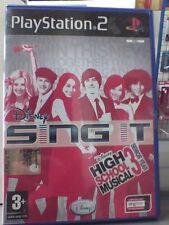 DISNEY SING IT high school musical 3 dance  PS2  NUOVO!