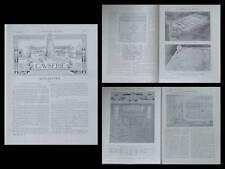 LA CONSTRUCTION MODERNE n°47 1907 TOULOUSE, HOPITAL PURPAN, BARTHELEMY GUITARD