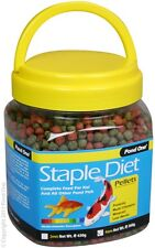 Pond One P1-26520 Staple Diet Pellets 4mm 360g Bottle for Pond Fish