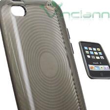 Custodia flexy soft in TPU morbida RAGGI per iPod Touch 4 4G NERO fumé