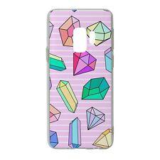 Para Samsung Galaxy S9 Funda de Silicona Rosa Bling Diamantes Azul Púrpura-S666