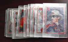 Set of 10 1993 Card Dynamics Gant Oil Company Metal Racing Cards