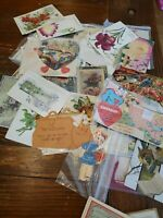Estate Lot vintage Embossed Holiday Greeting Postcards cards easter valentines K