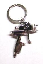 SPRAY PAINT Gun Silver Metal KEY CHAIN Ring Link Pendant Accessories NEW for Key