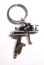 Quality SPRAY PAINT Gun Silver Metal KEY CHAIN Ring Keychain NEW