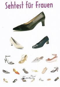 Postkarte: Sehtest für Frauen / Schuhe
