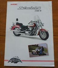 1998 SUZUKI INTRUDER LC 1500 W MOTOR BIKE CYCLE RENEGADE STYLING BROCHURE