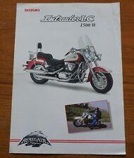 1998 SUZUKI INTRUDER LC 1500 W MOTOR BIKE CYCLE RENEGADE STYLING BROCHURE