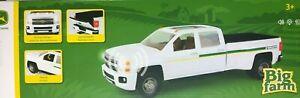 NEW Big Farm White Chevy 3500 John Deere Dealership Truck 1/16 scale LP67326
