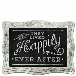 Chalk it Up Wood Sign---And They Lived Happily Ever After---Large Plaque