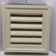 "14""x14"" Gable Vent Louver Light Yellow Cream PB  PVC Weather Filter PlyGem Squar"