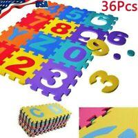 Kids Foam Play Mat Baby Crawling Activity Gym Crawl Infant Floor Carpet 36 Pcs