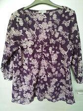 Per Una Size 18 Top. Purple And White.