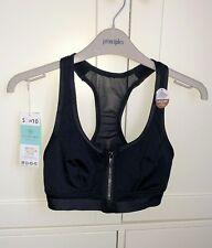 NEW - Dorina Extreme black high impact zip front sports bra ASOS - Small/UK10