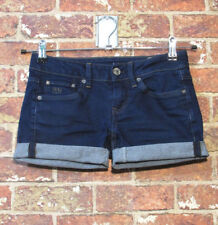 G-Star Shorts 26 fits best 24 or 25 Dark Rolled Up Daisy Dukes Stretch Jean