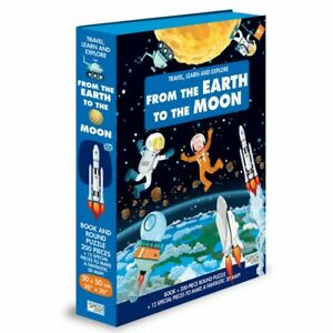 Sassi Travel, Learn, Explore - Book & 3D Puzzle Set - From the Earth to the moon