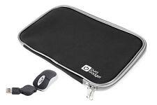 "Hard Wearing Black 18"" Neoprene Laptop Zip Case With Handy USB Mini Mouse"