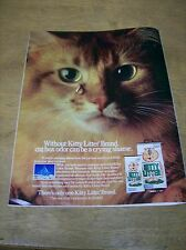 Original 1984 Kitty Litter Magazine Ad -... Cat Box Oder Can Be a Crying Shame