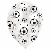 6pk Football Latex Balloons 27.5cm Birthday Sport Decorations