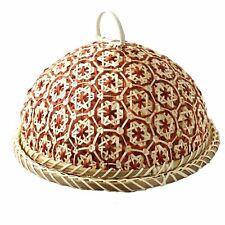 Bread Organizer Handmade Food Fruit Wicker Rattan Straw Basket With Lid Plate
