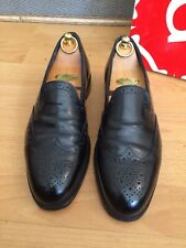 Grenson G One Black Leather Brogue Loafer Shoe Uk 7, Made In England, RRP £410