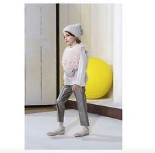 BONPOINT Kids PALOU rose peau de mouton veste sans manches gilet 2 ans
