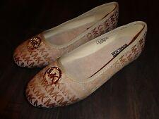 Michael Kors Faye 2 Jaquard Camel shoes new youth kids GS size 3 flats