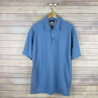 NIKE GOLF Men's Short Sleeve Fit Dry Polo Shirt L Large Blue & Gray
