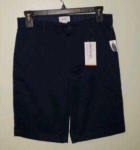NEW Old Navy Boys Uniform Dress Shorts 10 12 14 16 Flat Front NAVY BLUE #1571218