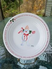"christmas LUNCHEON PLATE white FIESTAWARE 2016 Mr Bingle FIESTA WARE 9"" 1st NWT"