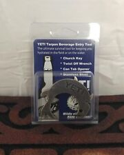 AUTHENTIC YETI COOLERS TARPON BEVERAGE ENTRY TOOL BOTTLE OPENER KEYCHAIN