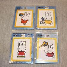 DICK BRUNA MIFFY Cross Stitch Embroidery Kits Pako Holland New Unused Set of 4