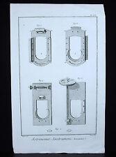 Astronomie intruments Micromètre gravure vers 1770 par  Robert BENARD (1734-1777