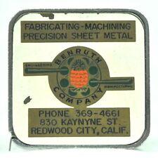 Benruth Engineering Manufacturing Vtg Tape Measure Pineapple Redwood City CA