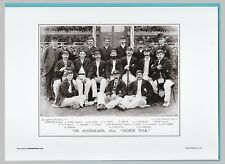 CRICKET  -  UNMOUNTED CRICKET TEAM PRINT - THE AUSTRALIANS - 1893