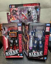 Transformers WFC Siege SOUNDWAVE & SOUNDBLASTER + LASERBEAK & RAVAGE