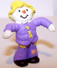 1990 Hallmark Scarecrow Dressed in Purple New Merry Miniature Halloween Qfm1616