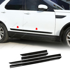 Bright black Body Door Side Molding Cover Trim For Land Rover Discovery 2017-20