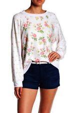 Wildfox Patchwork Floral Sommers Fleece Sweater Sweatshirt Long Sleeve Sz M