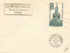 SEUL SUR LETTRE ASIE GRAND SERMENT LAO 1953 THATLUANG - LAOS