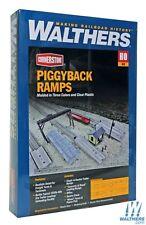 Lot 10-293 * HO Scale Walthers Cornerstone kit 933-4048 * Piggyback Ramps