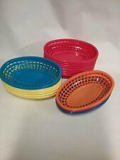 "Tablecraft 1074R Sandwich Basket 9-3/8""Wx6""Dx1-7 /8""H, Oval, 24 pc"